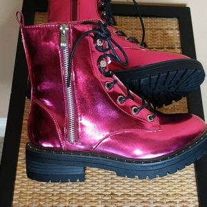 Pretty Little Thing Faux Doc Martens Ankle Boots